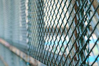 フェンス越しの風景の写真・画像素材[3106033]