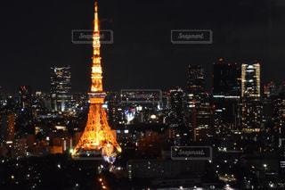 東京ドームと夜景の写真・画像素材[464856]