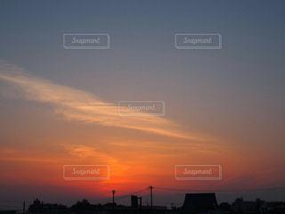 長野 善光寺近隣 朝焼け 風景 幻想の写真・画像素材[466836]