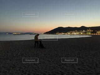 いつもの散歩、いつもの海岸の写真・画像素材[3143729]