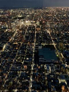 広がる大都会の夜景の写真・画像素材[4270893]