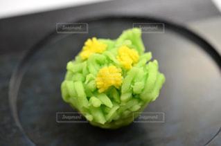 和菓子「菜の花」の写真・画像素材[1842703]