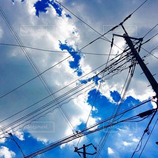 電線と空の写真・画像素材[1772266]