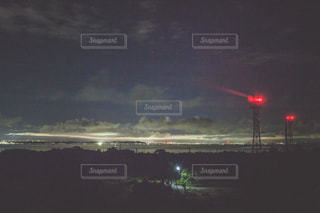 沖縄の離島から見る、本土の夜景 - No.843641