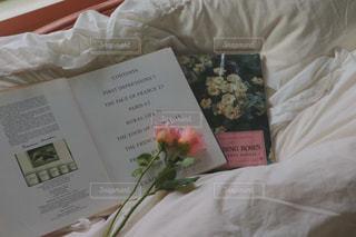 本とお花の写真・画像素材[987027]