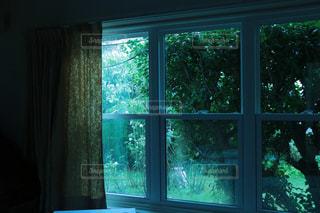雨の日の窓の写真・画像素材[987032]