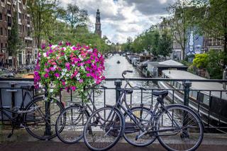アムステルダムの自転車の写真・画像素材[1088650]
