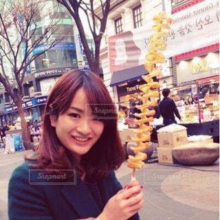 女性,1人,食べ物,韓国