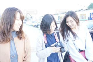 女性,友だち,3人,カメラ,カメラ女子,人物,若い