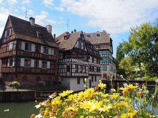 ドイツとフランスの融合!ストラスブールの街並みですの写真・画像素材[492523]