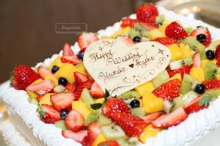 皿の上のケーキの一部 - No.874503