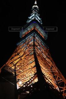 東京タワーは夜ライトアップの写真・画像素材[1426115]