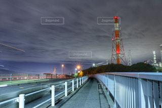 いくつかの水以上の長い橋の写真・画像素材[810947]