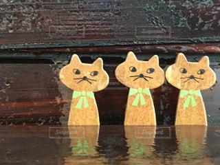 三匹のネコの写真・画像素材[834294]