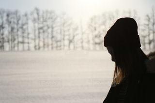 雪の中での写真・画像素材[974008]