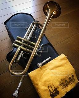 #トランペット#バック赤ベル#楽器の写真・画像素材[478212]
