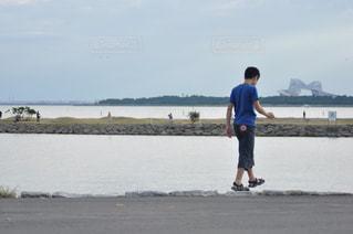 浜辺で遊ぶの写真・画像素材[505494]