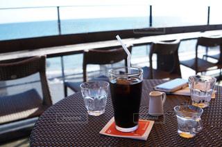 海の見えるカフェの写真・画像素材[823790]