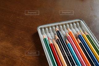12色の色鉛筆の写真・画像素材[2481994]