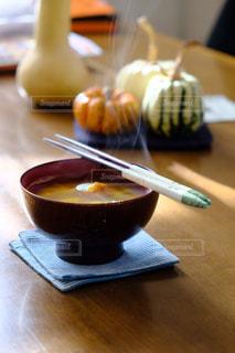 かぼちゃのお味噌汁の写真・画像素材[2676802]