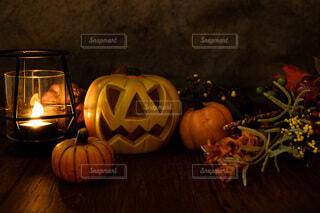 ハロウィンのジャックオランタンの写真・画像素材[4793651]