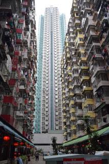 香港の集合住宅の写真・画像素材[1021542]