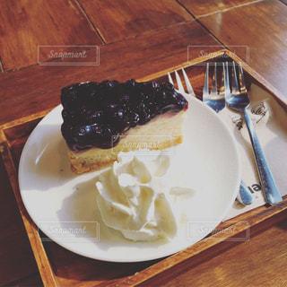 ブルーベリーチーズケーキの写真・画像素材[535961]