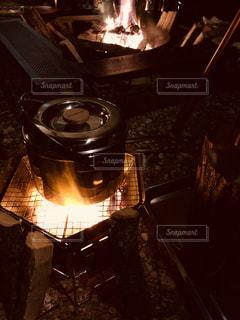 キャンプでの料理の写真・画像素材[1760187]