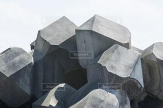 消波ブロックの写真・画像素材[1107854]