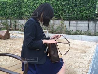 鞄の中身の写真・画像素材[1063085]