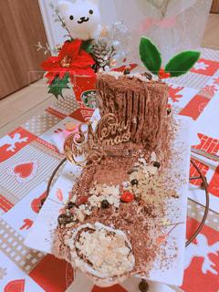手作りクリスマスケーキの写真・画像素材[933099]