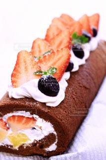 『手作りロールケーキ』の写真・画像素材[1687033]