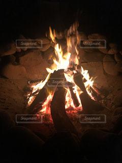 焚き火の写真・画像素材[490458]