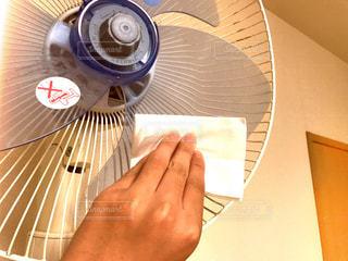 #掃除#お掃除#扇風機#扇風機掃除#拭く#磨く#夏の写真・画像素材[504169]