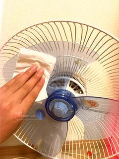 #掃除#お掃除#扇風機#扇風機掃除#拭く#磨く#夏の写真・画像素材[504171]