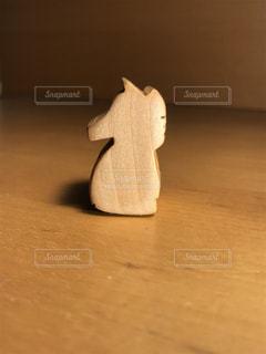 自分で作った馬の木像です。の写真・画像素材[831673]