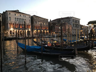 ベネチアの船乗り場 - No.492124