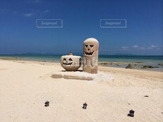 ハロウィンの砂像の写真・画像素材[493106]