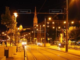ハンガリーの路面電車の写真・画像素材[743569]
