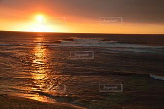 インド洋に沈む夕日の写真・画像素材[805332]
