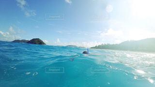 水体を泳ぐ人たちのグループの写真・画像素材[721830]