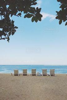 ビーチに座っている人々 のグループの写真・画像素材[718059]