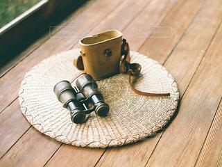 木製テーブルの写真・画像素材[1668394]
