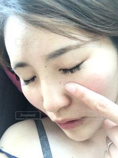 20代女性の顔ですの写真・画像素材[1101654]