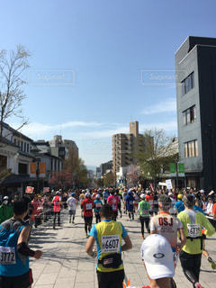 マラソンの写真・画像素材[497566]