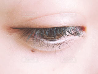 アイラインと目(伏せ)の写真・画像素材[1653828]