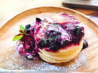 ブルーベリーのパンケーキの写真・画像素材[2144728]