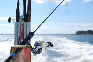ボートと釣り竿の写真・画像素材[1010886]
