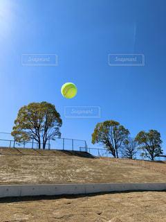 テニスボール 青空の写真・画像素材[3059511]