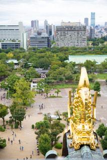 大阪城の天守閣からの写真・画像素材[1633046]